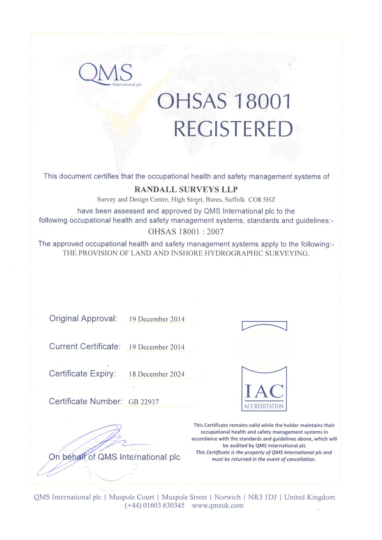 ISO18001 - GB22937